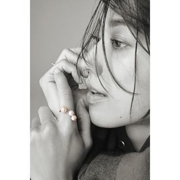 [carat a]パール×ダイヤフォークリング