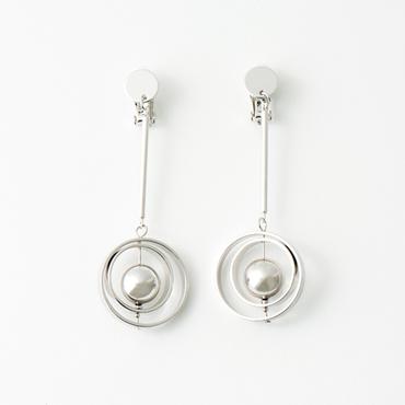 [ABISTE]リングデザインロングイヤリング(2リング)