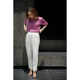 [ara・ara]satin tuck easy pants