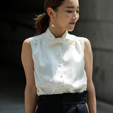 [K.]4way bow tie blouse