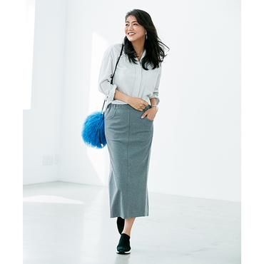 【HERSオリジナル】[HA-Mi]サイドラインジャージー素材スカート
