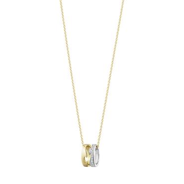 [GEORG JENSEN]フュージョンペンダント(2カラーゴールド、パヴェダイヤモンド)