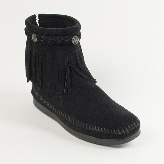 [MINNETONKA]ブーツ/HI TOP BACK ZIP BOOT