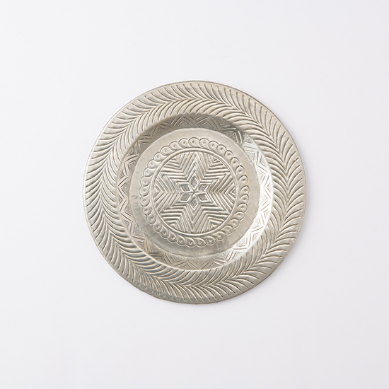 [ne Quittez pas]シルバープレート/Aluminium Tray embossed 3079