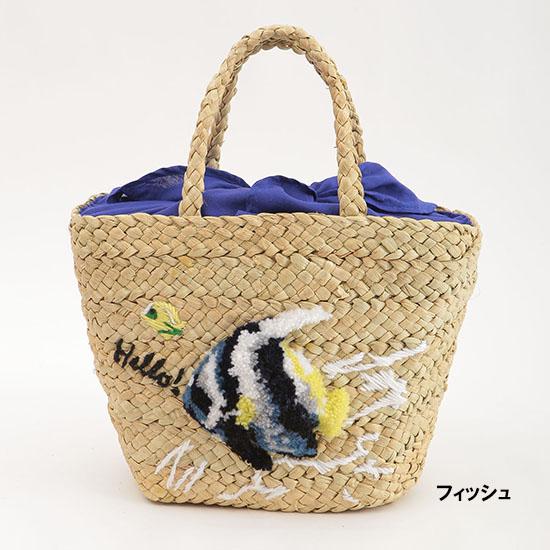 [COOCO]立体刺繍かごバッグ