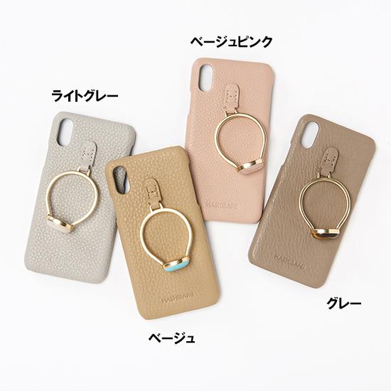 [HASHIBAMI]ジェムストーンリング iphoneX/XS用