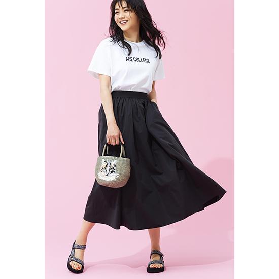 [SOEJU]ロングギャザースカート