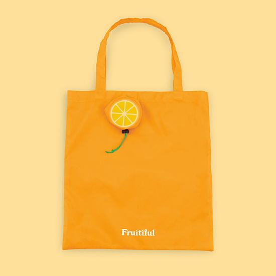 [Luckies]フルーティフルショッピングバッグ(オレンジ)