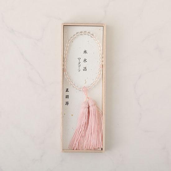 [CARETTE]ローズクォーツ念珠