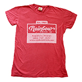 """[Rainbow Drive-In]Lady's Cup logo Tシャツ"""