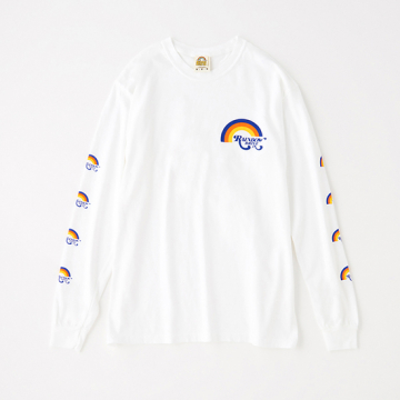 """[Rainbow Drive-In]Tricolor Rainbow Long Sleeve T"""
