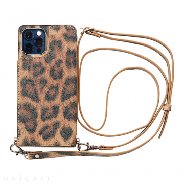 [UNiCASE]【MAELYS LOUNA】 Cross Body Case Animal Series for iPhone12/12Pro 【iPhone12/12 Pro ケース】 (leopard)