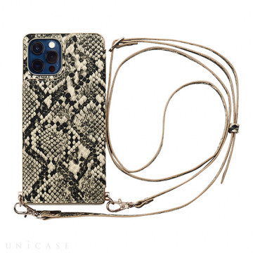 [UNiCASE]【MAELYS LOUNA】 Cross Body Case Animal Series for iPhone12/12Pro 【iPhone12/12 Pro ケース】(python)