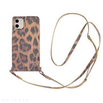 [UNiCASE]【MAELYS LOUNA】 Cross Body Case Animal Series for iPhone11/XR 【iPhone11/XR ケース】(leopard)