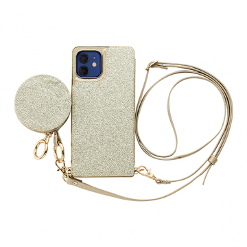 [UNiCASE]【MAELYS LOUNA】 Cross Body Case Glitter Series for iPhone12/12Pro 【iPhone12/12 Pro ケース】
