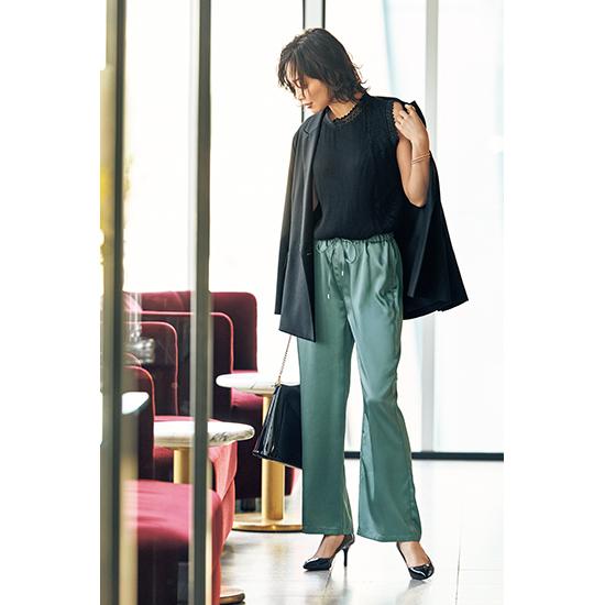 [S・girasole]シーンレス艶パンツ