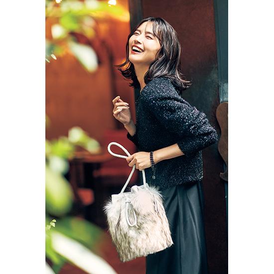 [S・girasole]エコファーバケツ型巾着バッグ
