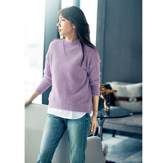 [Vingt Neuf]ふんわりニット&Tシャツセット