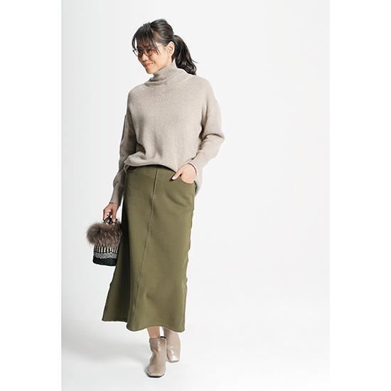 [HA-Mi]スウェットAラインマキシスカート