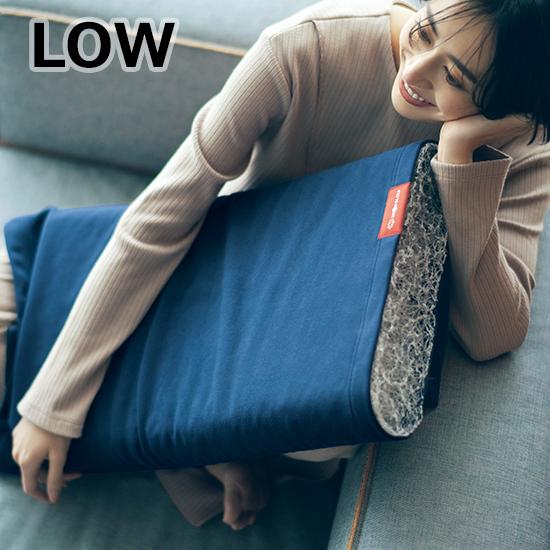 [BRAIN SLEEP]ピローLOW+別注オーガニックコットンカバー NAVY