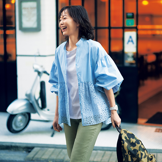[S・girasole]ふんわり袖&レースシャツ