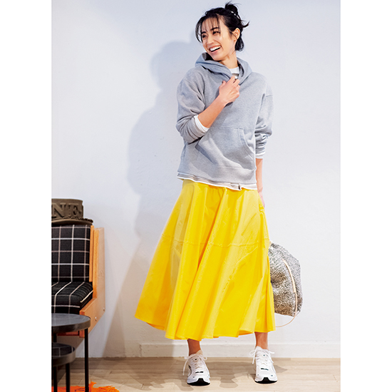 [Donoban]切替フレアスカート