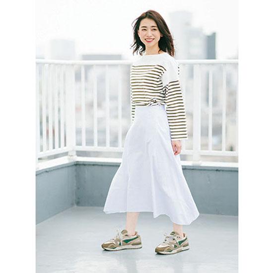 [BLANC]フレアスカート