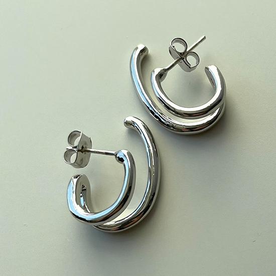 [BLANC]double fish pierce