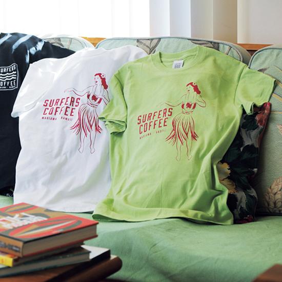 [SURFERS COFFEE]HULA GIRL T-shirt(LADY'S)