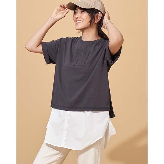 [CYNICAL]裾シャツドッキングタンク
