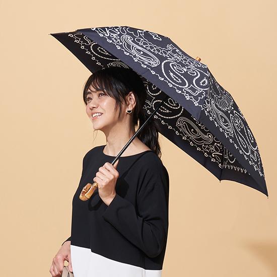 [Manipuri]バンダナ柄 晴雨兼用折りたたみ傘