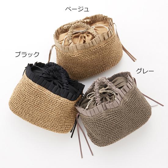 [cache cache]ペーパー手編みフリルトートバッグ
