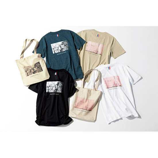 [Sans Facon]バックプリントTシャツ(エコバッグ付き)