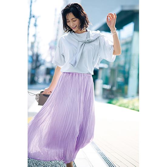 [S・girasole]ワッシャープリーツスカート