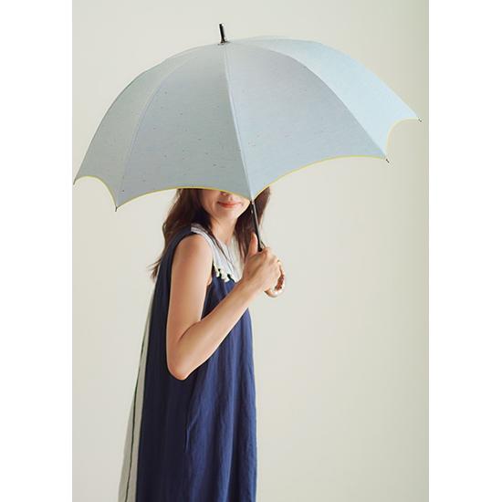 [BICHERIE.]100%完全遮光 晴雨兼用日傘 D-長傘