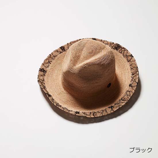 [Chapeau d' O]レーストリムラフィアハット