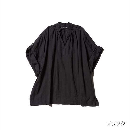[mizuiro ind]ドビー織りコットンワイドシャツ