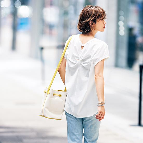 [I.T.'S. international]フレンチスリーブバックロングTシャツ