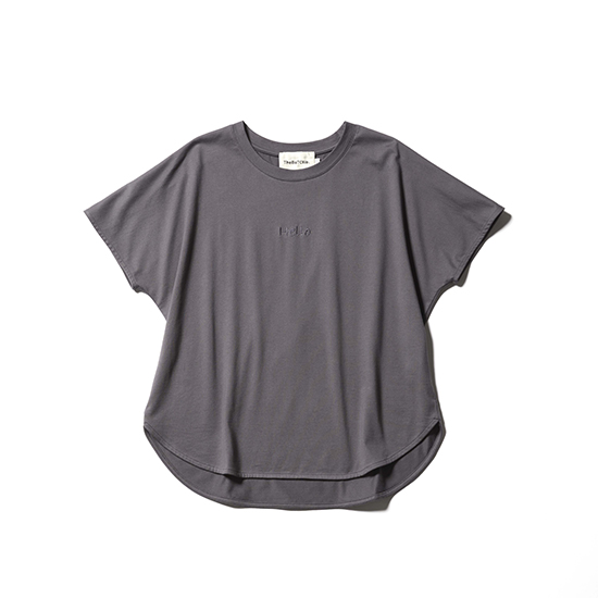 [The BaTONNE]HELLO Tシャツ(オーガニックコットン100%)