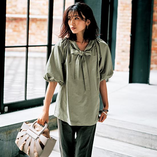 [S・girasole]立体シルエット2WAYシャツ