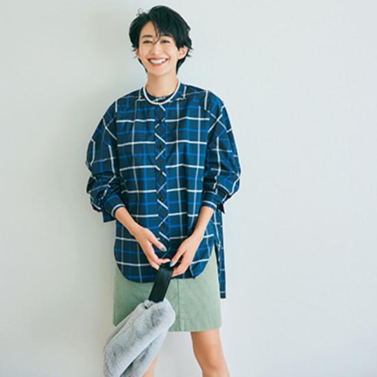 [MACHATT]スタンドカラーオーバーシャツ