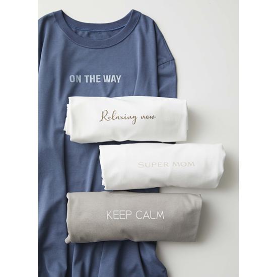 [Calmere]ユニセックスロゴTシャツ