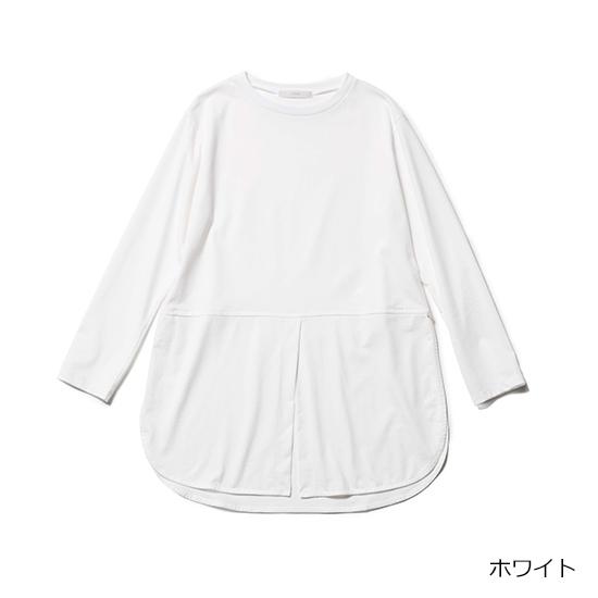 [Liyoca]シャツ風ロングテールカットソー