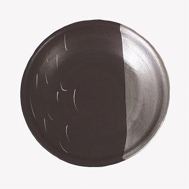 [アリタ・ポーセリン・ラボ]豆皿(錆釉掻落 銀)
