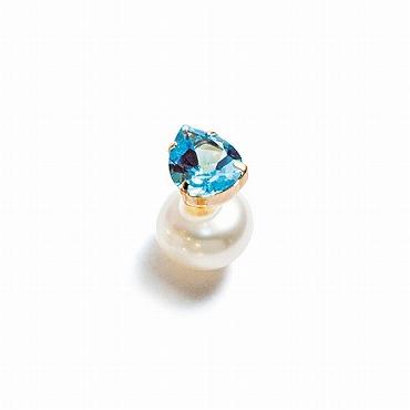 [Lamana Jewels]天然石&パールキャッチピアス Liberty