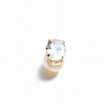 [Lamana Jewels]天然石&パールキャッチピアス Fortune
