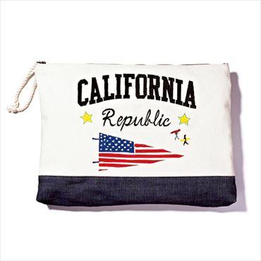 "[Liberty Bell]""CALIFORNIA""刺しゅうクラッチ"
