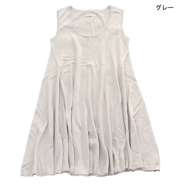 [KoKoRo]シルクコットンニットカフェドレス