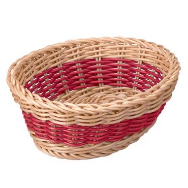 [Quartier latin]洗えるバスケット バイカラ― オーバル