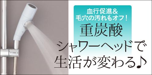 重炭酸シャワーヘッド